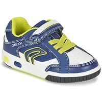 Topánky Chlapci Nízke tenisky Geox J GREGG A Modrá / žltá citrónová