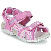 Topánky Dievčatá Športové sandále Geox J S.ROXANNE A Ružová