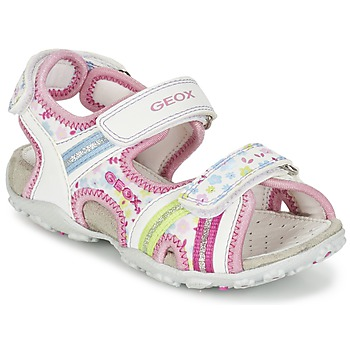 Topánky Dievčatá Športové sandále Geox J S.ROXANNE A Biela / Ružová