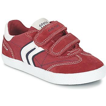 Topánky Chlapci Nízke tenisky Geox J KIWI B. M Červená / Námornícka modrá
