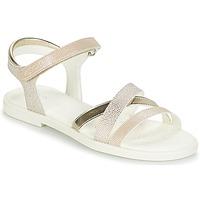 Topánky Dievčatá Sandále Geox J S.KARLY G.D Béžová / Zlatá