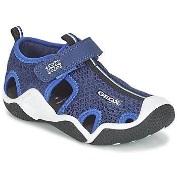 Topánky Chlapci Športové sandále Geox J WADER C Námornícka modrá