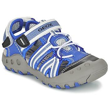 Topánky Chlapci Športové sandále Geox J SAND.KYLE C Modrá / Biela