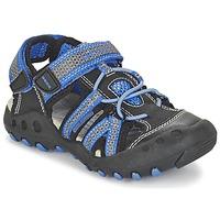Topánky Chlapci Športové sandále Geox J SAND.KYLE C čierna / Modrá