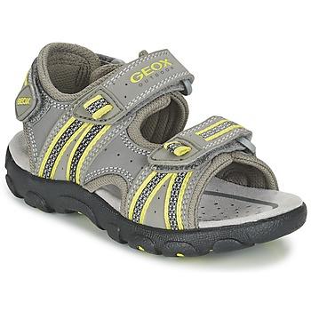 Topánky Chlapci Športové sandále Geox J S.STRADA A Šedá / Zelená