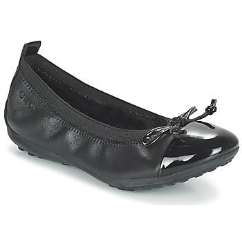 Topánky Dievčatá Balerínky a babies Geox J PIUMA BAL F čierna