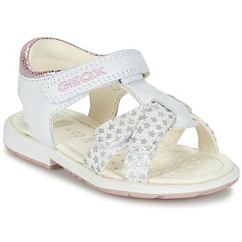 Topánky Dievčatá Sandále Geox B SAN.VERRED D Biela