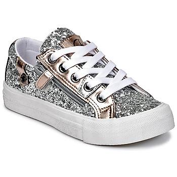 Topánky Dievčatá Nízke tenisky Kaporal AMBERA Strieborná