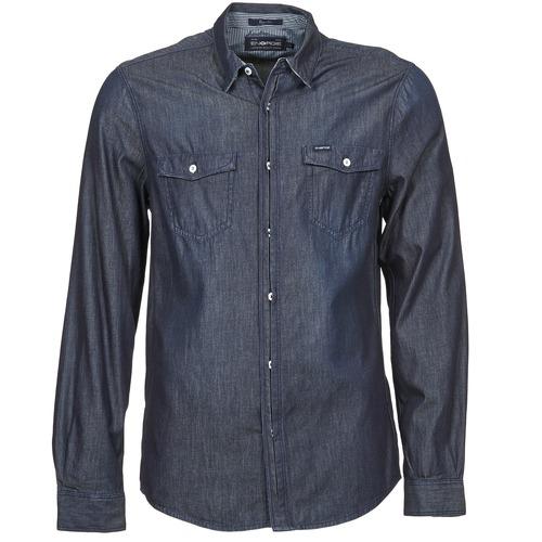 Oblečenie Muži Košele s dlhým rukávom Energie VETTEL Modrá