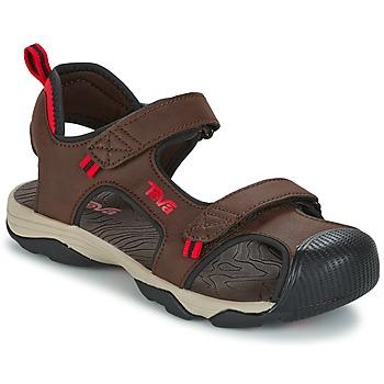 Topánky Chlapci Športové sandále Teva TOACHI 4 Hnedá / čierna / červená