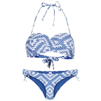Oblečenie Ženy Plavky dvojdielne Rip Curl DEL SOL BANDEAU SET Modrá / Biela