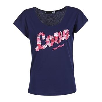 Oblečenie Ženy Tričká s krátkym rukávom Love Moschino W4G4127 Modrá