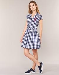 Oblečenie Ženy Krátke šaty Love Moschino WVF3001 Modrá / Biela