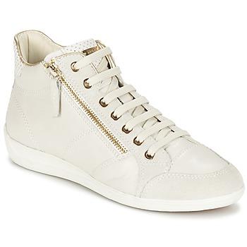 Topánky Ženy Členkové tenisky Geox MYRIA Biela