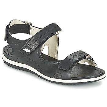 Topánky Ženy Športové sandále Geox D SAND.VEGA A Čierna