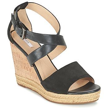 Topánky Ženy Sandále Geox D JANIRA E čierna