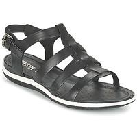 Topánky Ženy Sandále Geox D SAND.VEGA A čierna