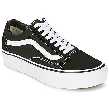 Topánky Nízke tenisky Vans UA OLD SKOOL PLATFOR čierna / Biela