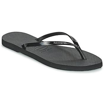 Topánky Ženy Žabky Havaianas YOU METALLIC Čierna