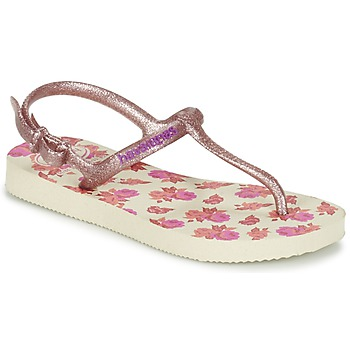 Topánky Dievčatá Žabky Havaianas KIDS FREEDOM PRINT Béžová / Ružová