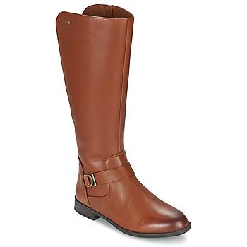 Topánky Ženy Čižmy do mesta Clarks MINT TREAT GTX Hnedá