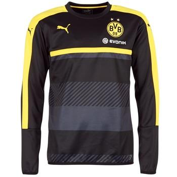 Oblečenie Muži Mikiny Puma BVB TRAINING SWEAT čierna / žltá