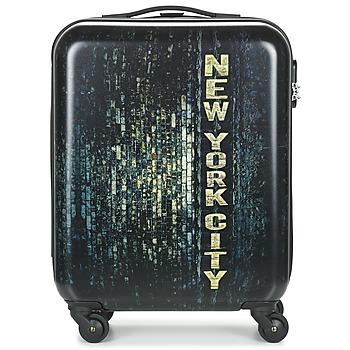Tašky Pevné cestovné kufre David Jones ORVILLETTE 84L čierna