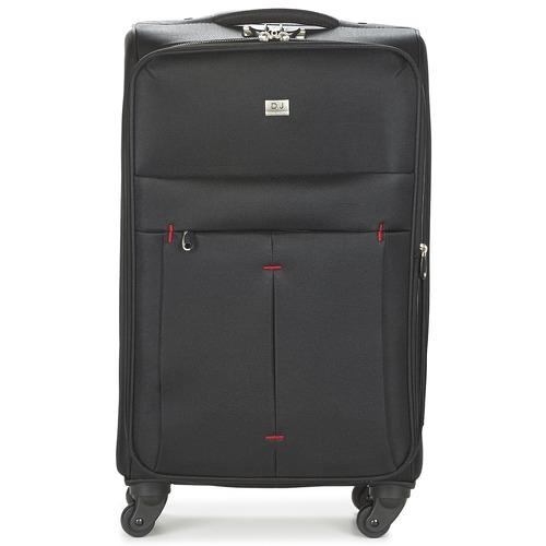 Tašky Pružné cestovné kufre David Jones JAVESKA 76L Čierna