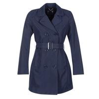 Oblečenie Ženy Kabátiky Trenchcoat Geox CREM Námornícka modrá