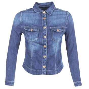 Oblečenie Ženy Džínsové bundy Le Temps des Cerises LILLYM Modrá / MEDIUM