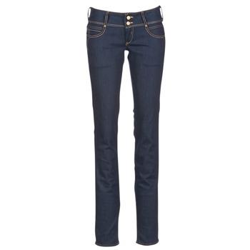 Oblečenie Ženy Rovné džínsy Le Temps des Cerises 220 Modrá / Raw