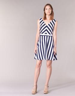 Oblečenie Ženy Krátke šaty Molly Bracken TRODAK Námornícka modrá / Biela