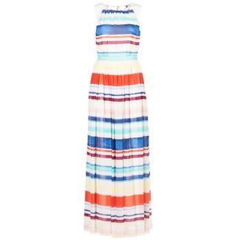 Oblečenie Ženy Dlhé šaty Tommy Hilfiger AGATON Biela / Modrá / Oranžová