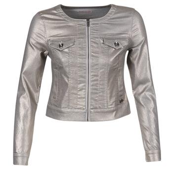 Oblečenie Ženy Džínsové bundy Les P'tites Bombes OMILATE Strieborná