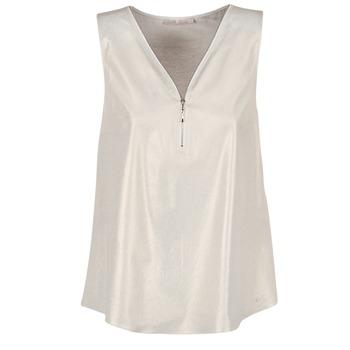 Oblečenie Ženy Blúzky Les P'tites Bombes LOUVALE Biela / Zlatá
