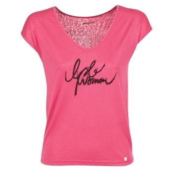 Oblečenie Ženy Tričká s krátkym rukávom LPB Woman CHOUBERNE Ružová