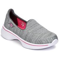 Topánky Dievčatá Slip-on Skechers GO WALK 4 Šedá