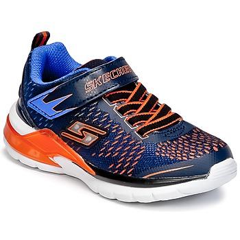 Topánky Chlapci Univerzálna športová obuv Skechers ERUPTERS II Námornícka modrá / Oranžová