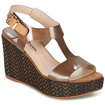 Topánky Ženy Sandále Spiral PAULA Hnedá