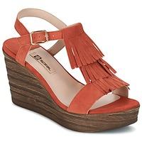 Topánky Ženy Sandále Spiral CARLA Oranžová