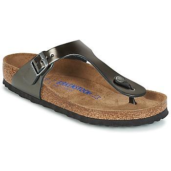 Topánky Ženy Žabky Birkenstock GIZEH šedá / Metalická