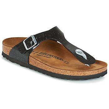 Topánky Deti Žabky Birkenstock GIZEH čierna