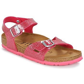 Topánky Dievčatá Sandále Birkenstock RIO Ružová / Trblietkavá