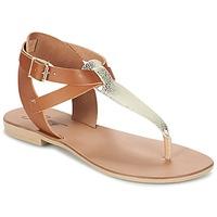 Topánky Ženy Sandále Betty London VITAMO Ťavia hnedá / Zlatá