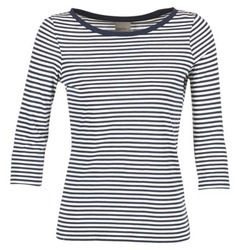 Oblečenie Ženy Tričká s dlhým rukávom Vero Moda MARLEY Námornícka modrá / Biela