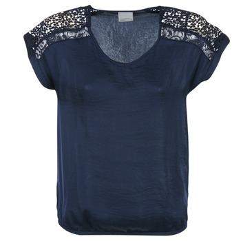 Oblečenie Ženy Blúzky Vero Moda SATINI Námornícka modrá