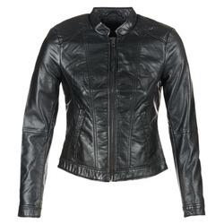 Oblečenie Ženy Kožené bundy a syntetické bundy Vero Moda QUEEN Čierna