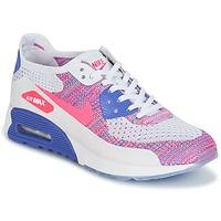 Topánky Ženy Nízke tenisky Nike AIR MAX 90 FLYKNIT ULTRA 2.0 W Biela / Modrá / Ružová