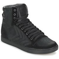 Topánky Členkové tenisky Hummel TEN STAR MONO OILED IG čierna / čierna