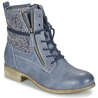 Topánky Ženy Polokozačky Tom Tailor RELOUNI Modrá
